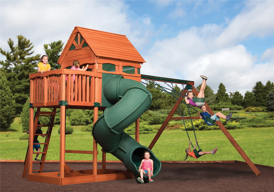 Tree House Swing Sets Treehouse Playsets Backyardadventures Com