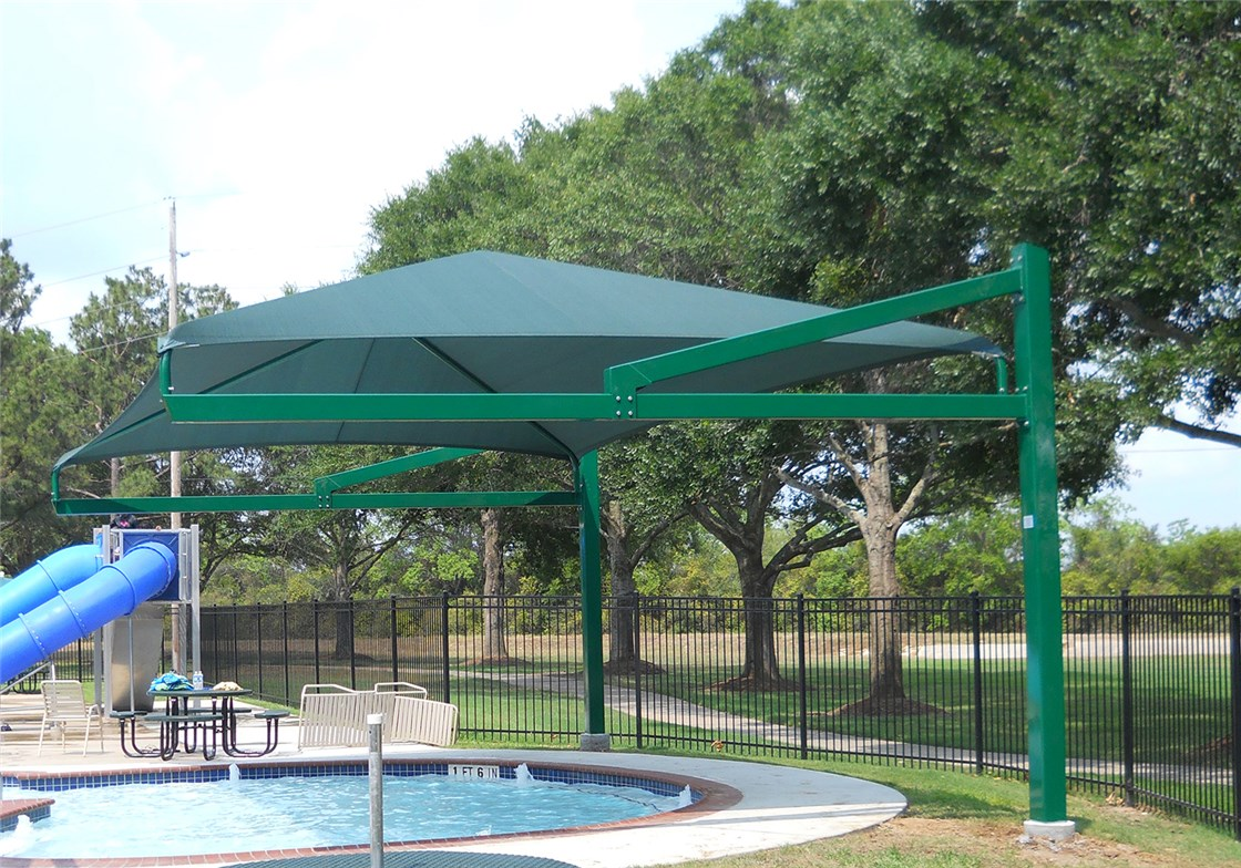 Full Cantilever Shade Structure 14x20 @10 ft Eave Height