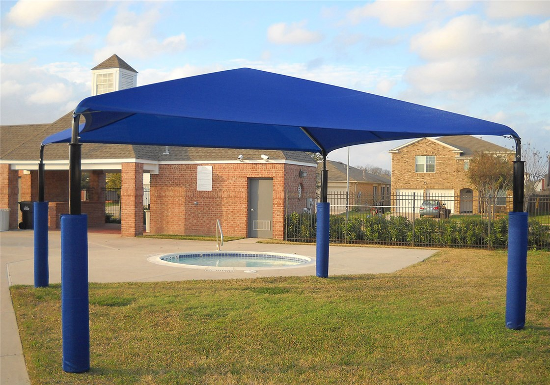 Pyramid Shade Structure 20x20 @14 ft Eave Height