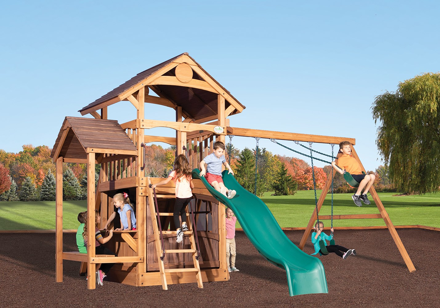 Image of: Backyard Playsets Backyard Swing Sets Backyardadventures Com