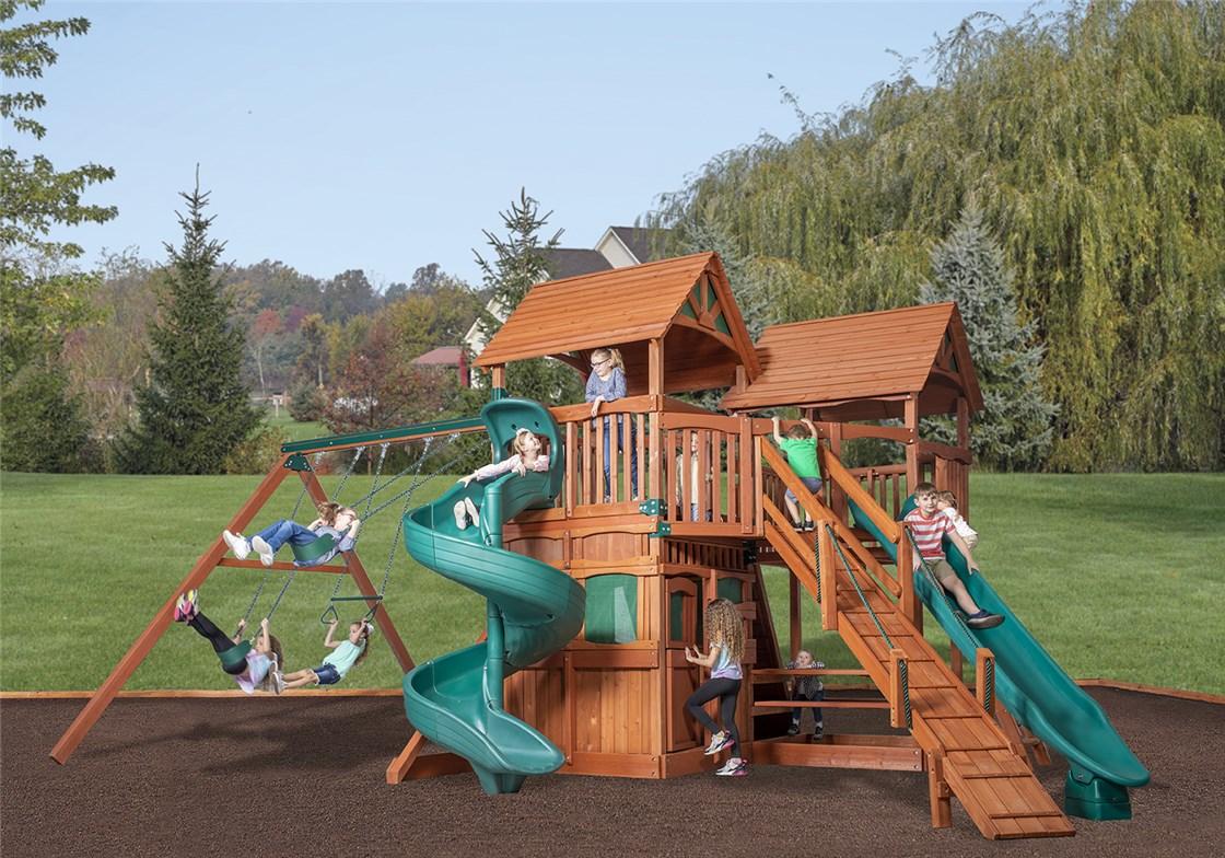 New - Treehouse Triangle Bridge Combo Playset